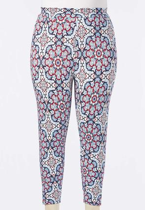 Plus Size Cropped Kaleidoscope Leggings