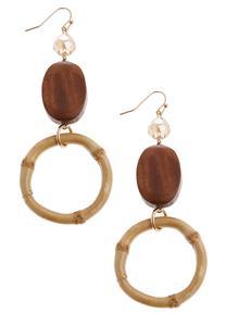 Bamboo Dangle Earrings