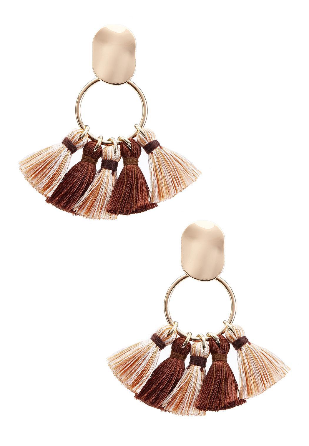 Latte Tassel Earrings