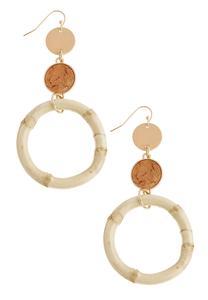 Cork Bamboo Earrings