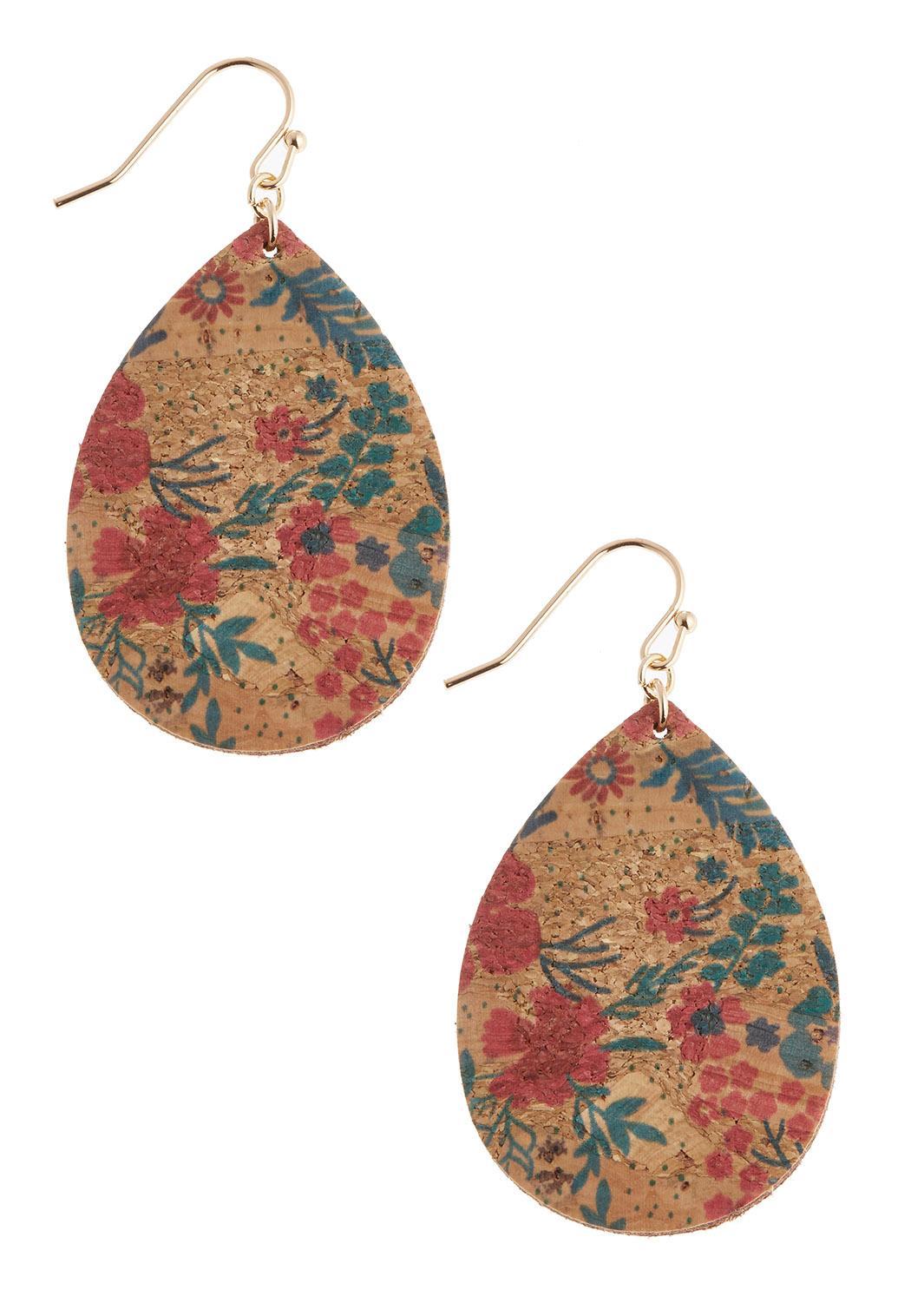 Floral Cork Earrings