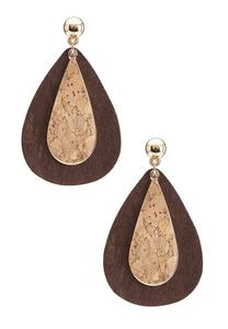 Two-Toned Tear Shaped Earrings