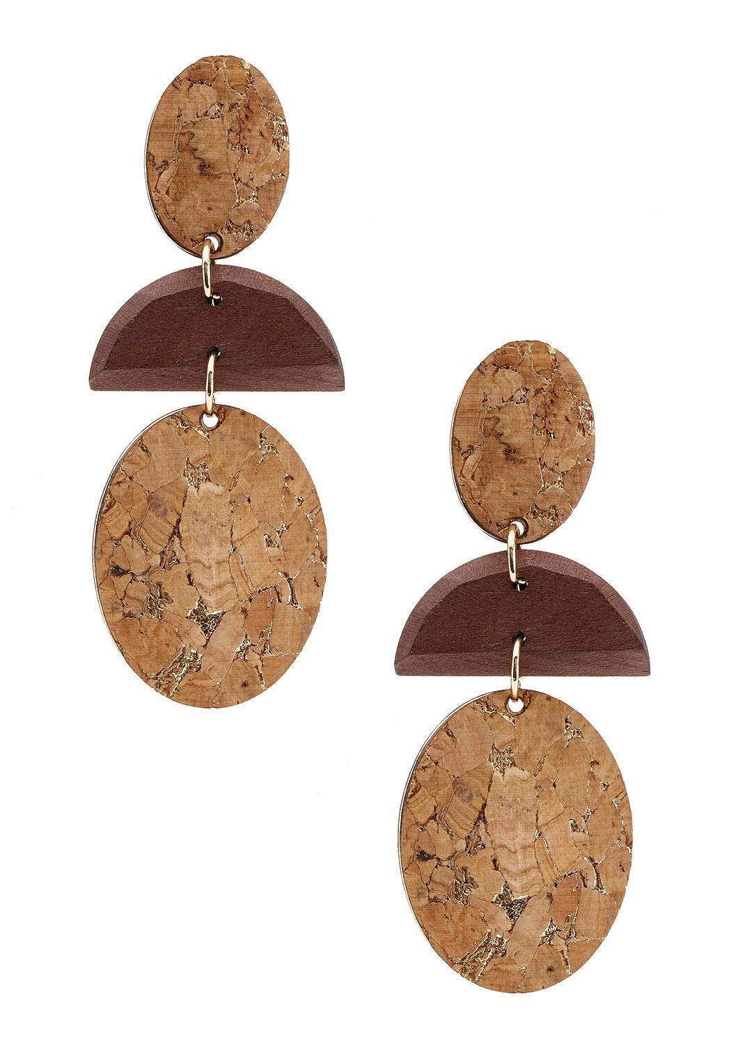 Geo Cork Earrings