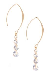 Cubic Zirconia Wire Earrings
