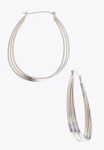 Multi Band Hoop Earrings