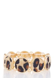 Gold Leopard Stretch Bracelet