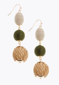 Triple Bead Wrapped Earrings
