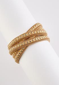 Studded Criss Cross Bracelet