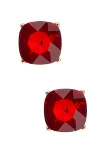 Faceted Square Earrings