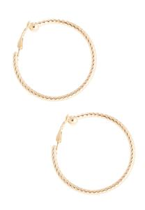 Twisted Gold Hoop Earrings