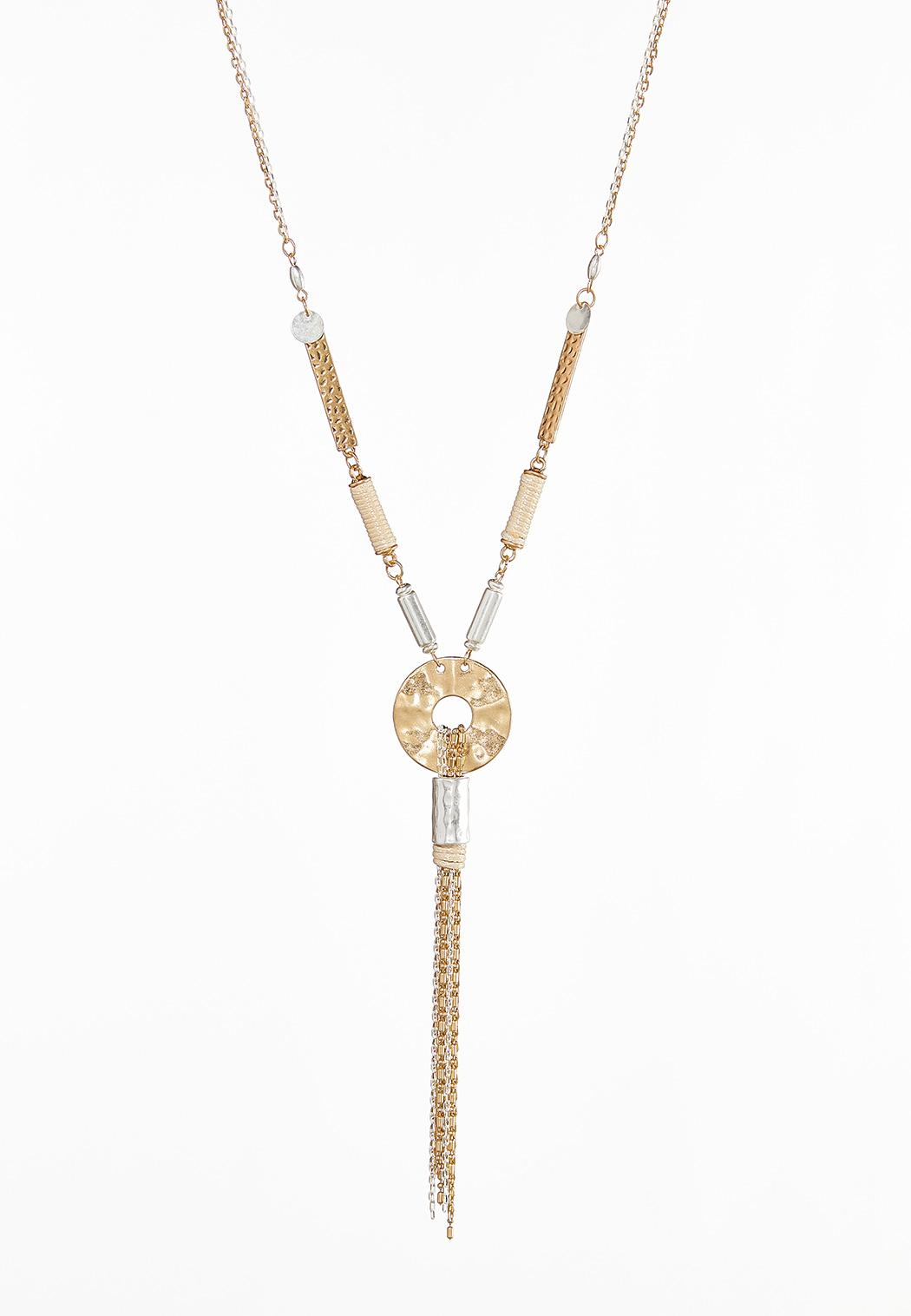 Metal Chain Tassel Necklace