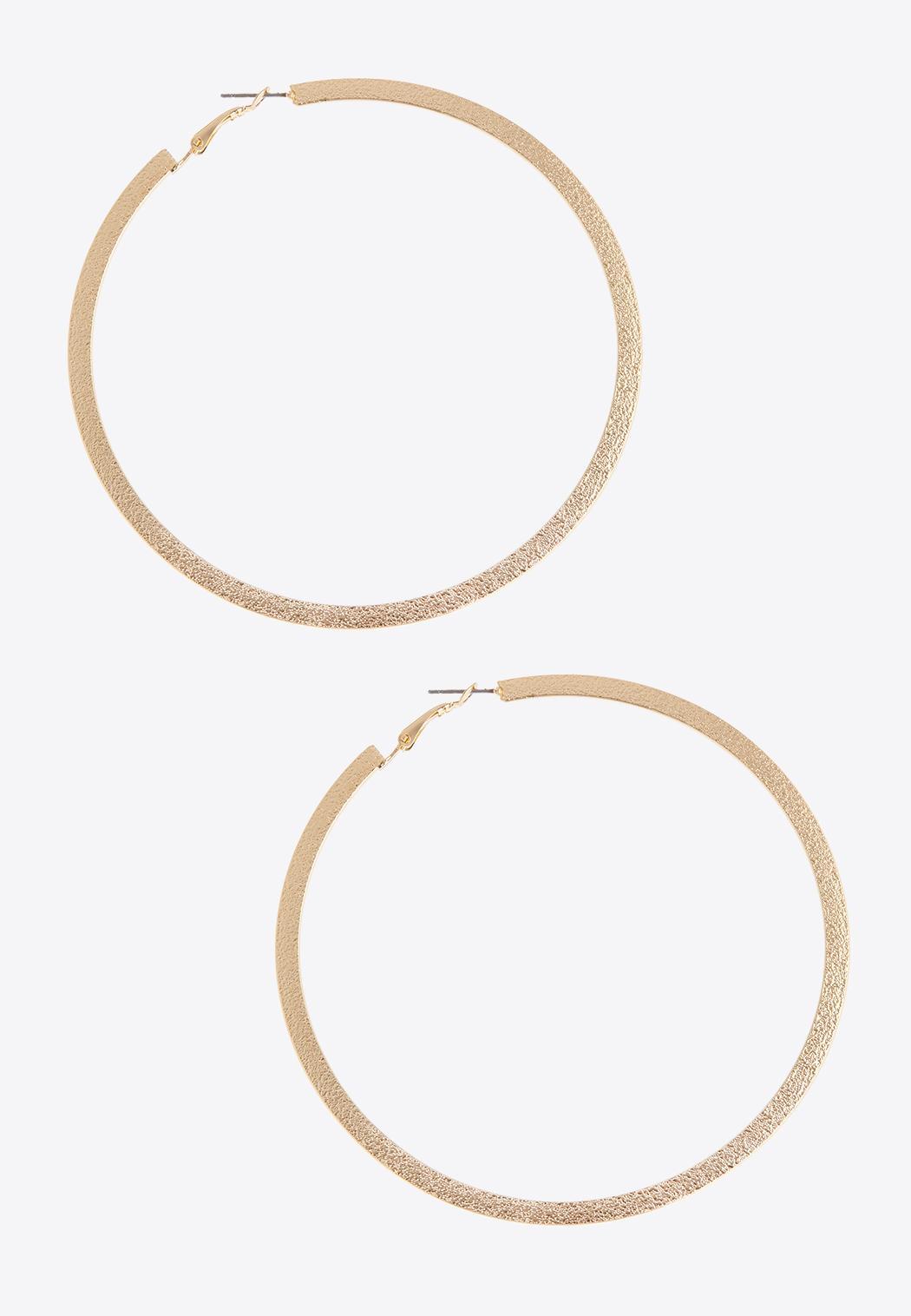 Statement Gold Hoop Earrings