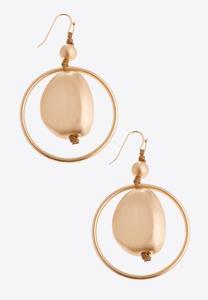 Brushed Metal Orbit Earrings