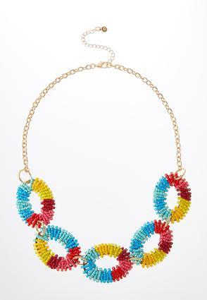 Rainbow Beaded Necklace