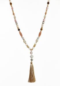 Sandy Beach Tassel Necklace