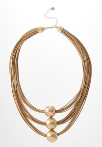 Orbit Layered Cord Necklace