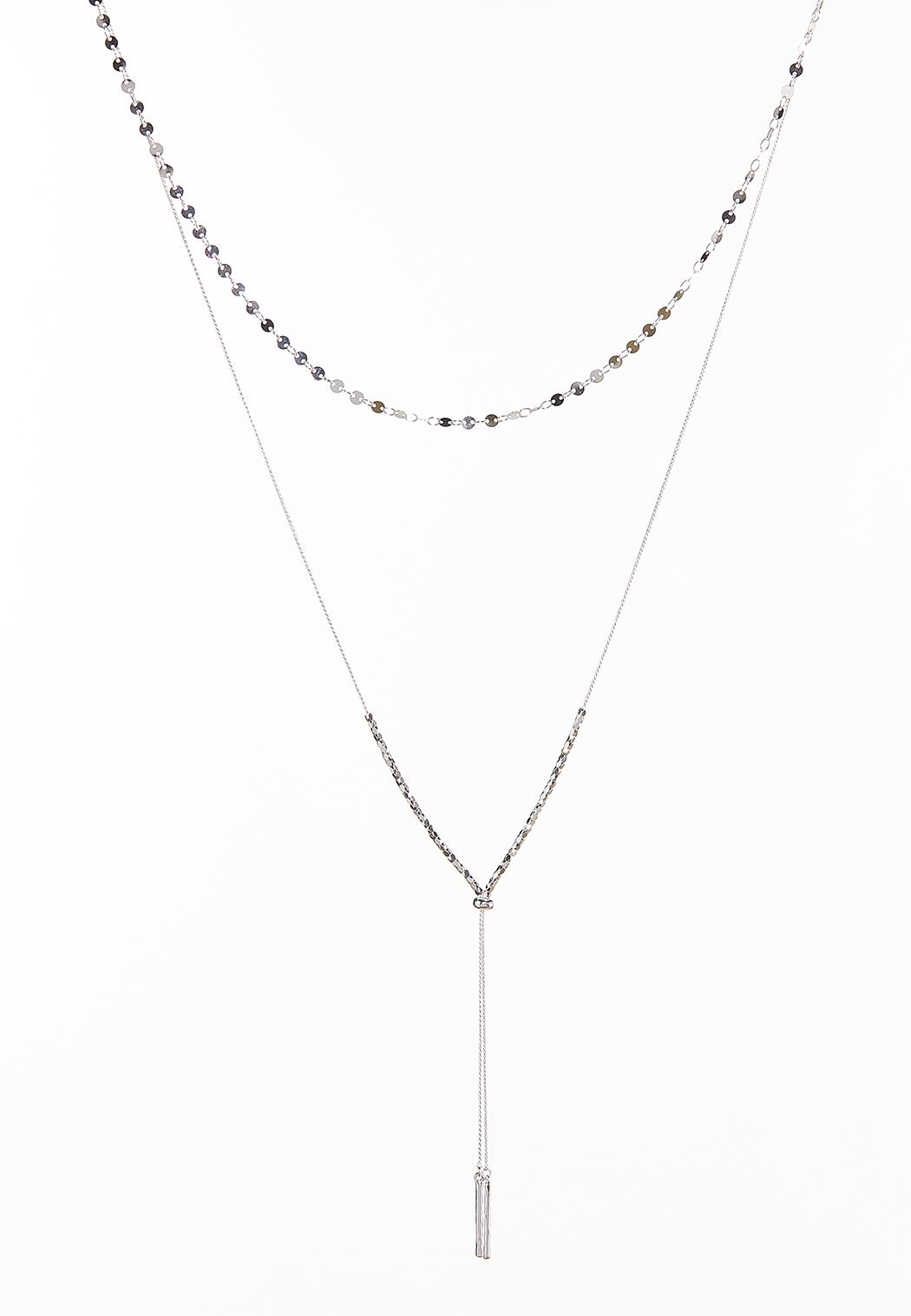 Dainty Layered Bar Necklace