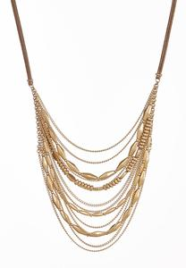 Mixed Chain Cord Necklace