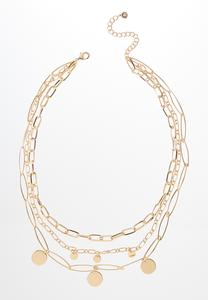 Mixed Gold Chain Necklace