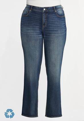 Plus Petite Straight High- Rise Jeans