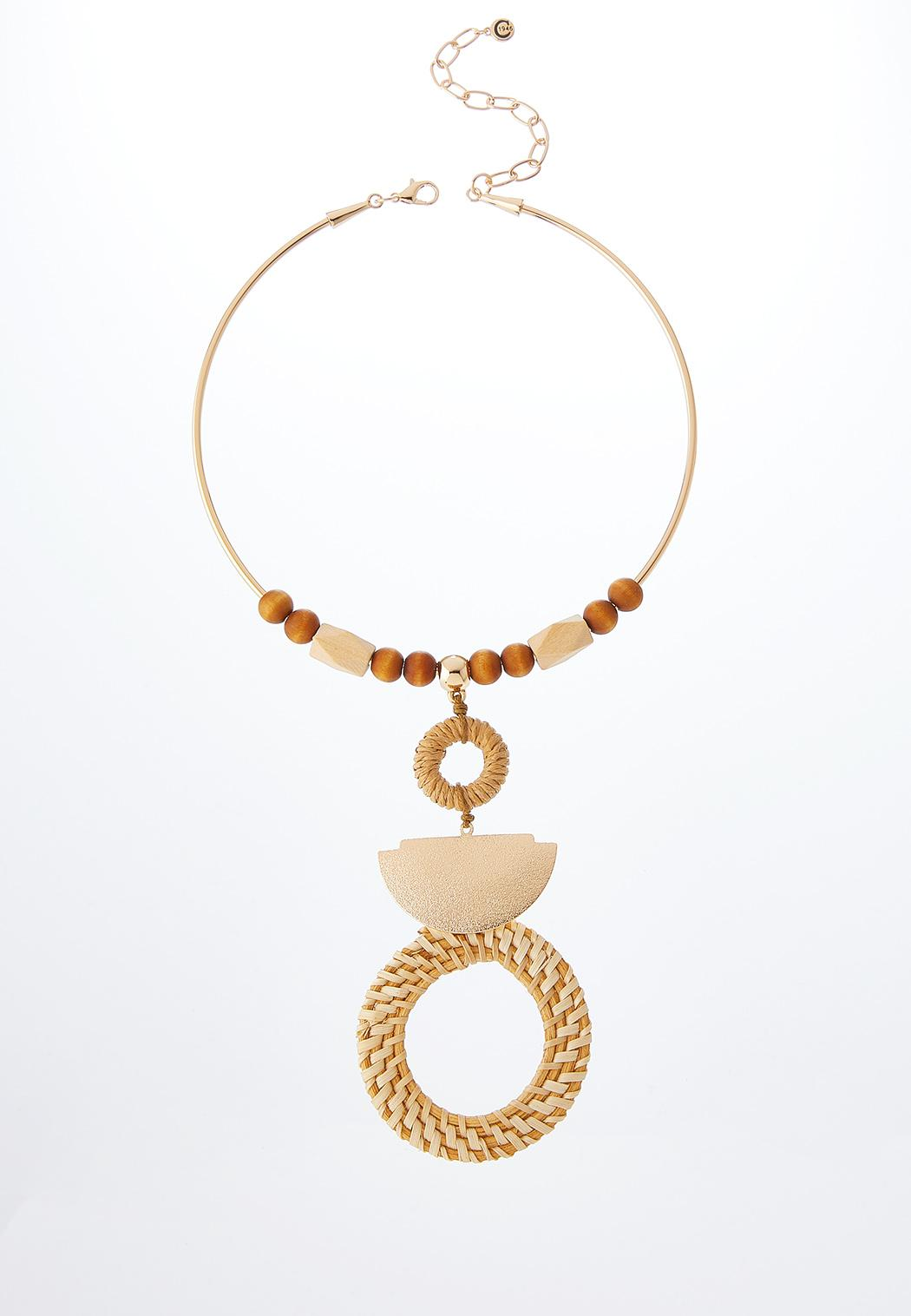 Raffia Pendant Necklace