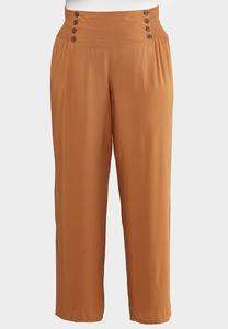 Plus Petite Smocked Button Pants