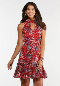 Plus Size Ruffled Americana Dress