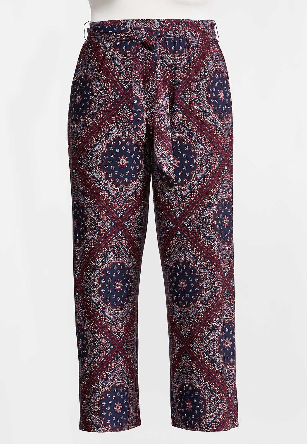 Plus Size Moroccan Tie Front Pants