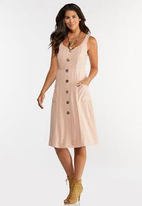 Plus Size Linen Midi Dress