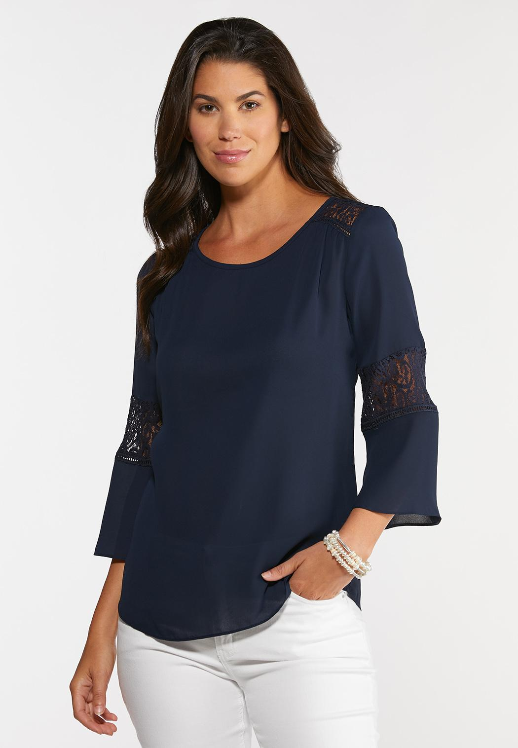 Lacy Bell Sleeve Top