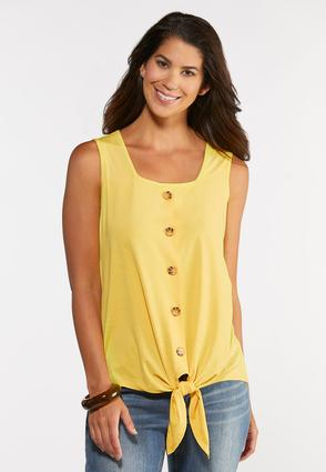 Button Tie Front Tank