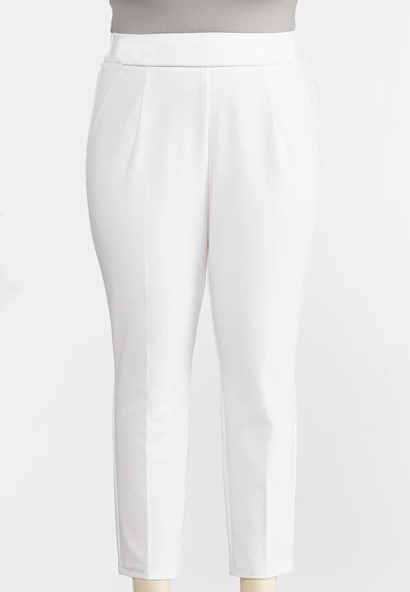 Plus Petite Button Tab Slim Pants