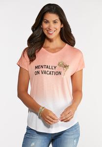 Plus Size Vacation Tie Dye Tee