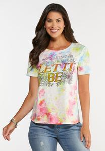 Plus Size Let It Be Tee