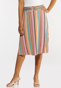 Bright Mod Stripe Skirt