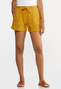 Utility Tie Front Shorts