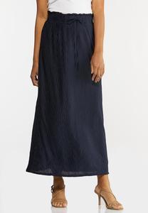 Plus Size Pleated Maxi Skirt