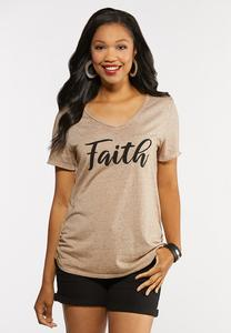 Plus Size Beaded Faith Top