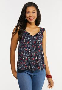 Plus Size Pretty Petal Garden Top