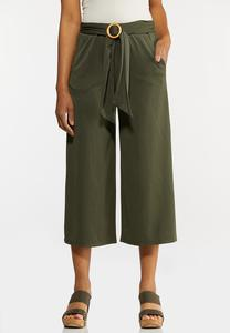 Ribbed Cropped Pants