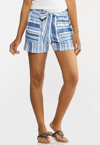 Striped Ocean Blue Shorts