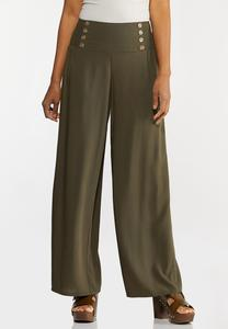 Smocked Button Pants