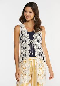 Scalloped Crochet Vest