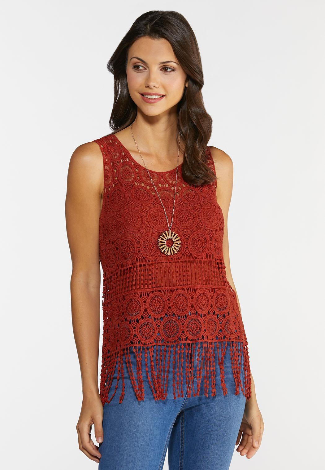 Crochet Fringe Hem Tank