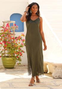 Plus Size Stretch Crochet Maxi Dress