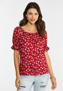 Floral Puff Sleeve Top
