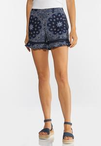 Bandana Print Shorts