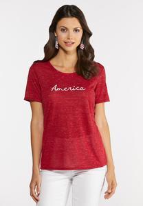 Red America Tee