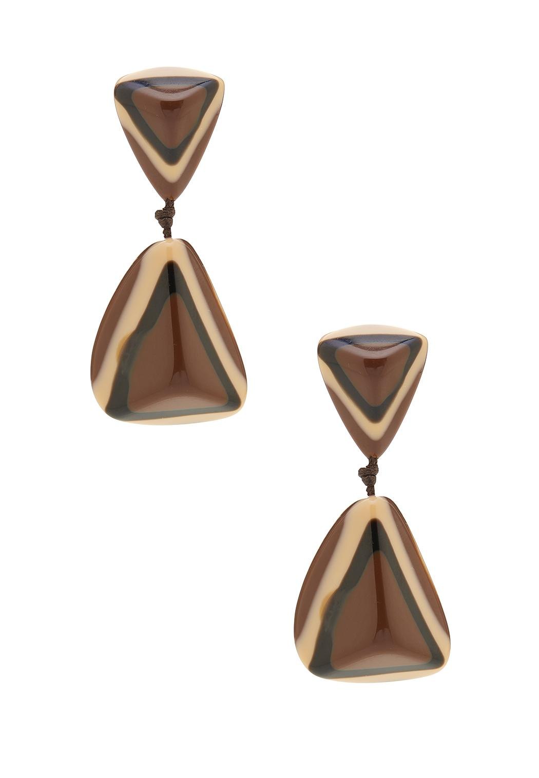Lucite Tiered Triangle Earrings