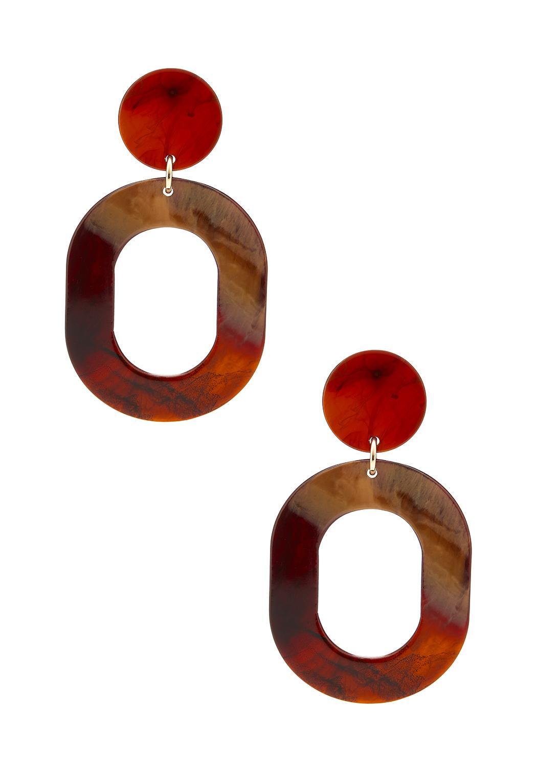 Red Tortoise Lucite Earrings